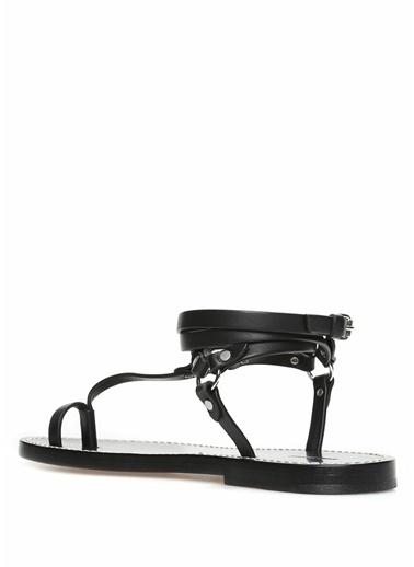 Etoile Isabel Marant %100 Deri Parmak Arası Sandalet Siyah